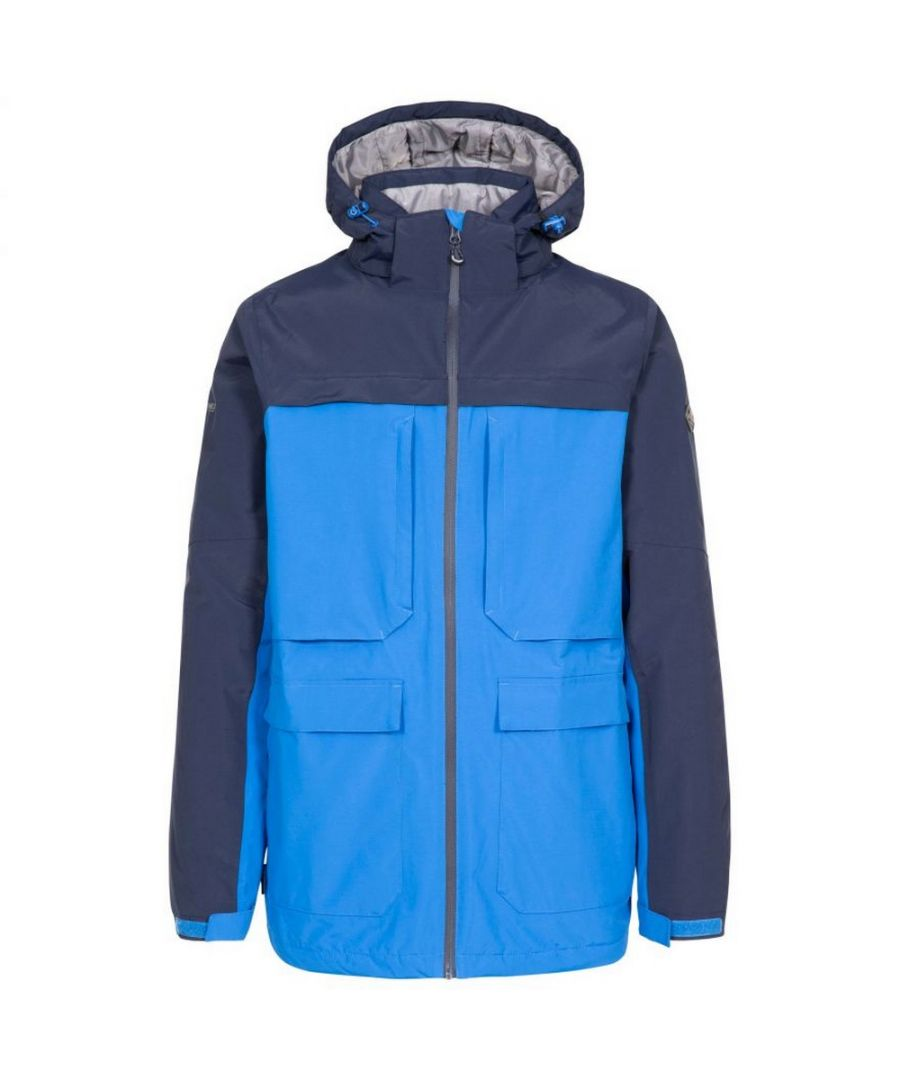 Image for Trespass Mens Heathrack Waterproof Jacket (Blue)