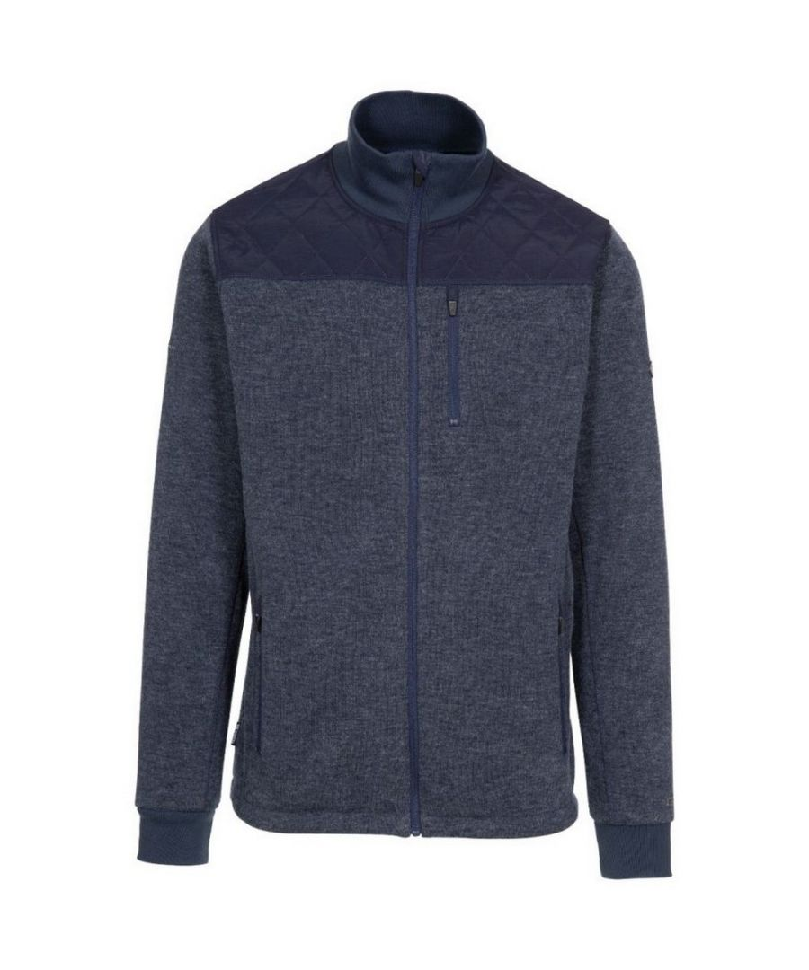 Image for Trespass Mens Farlowton Fleece Jacket (Navy/Grey Melange)