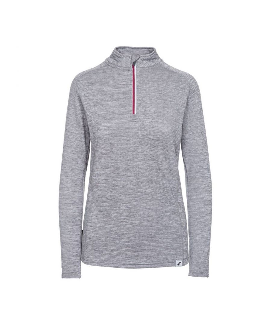 Image for Trespass Womens/Ladies Freya Long-Sleeved Sports Top (Grey Marl)