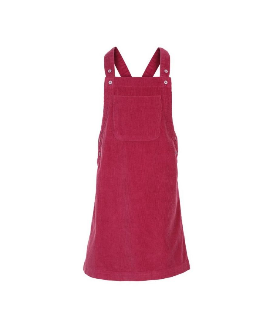 Image for Trespass Girls Convince Pinafore Casual Dress (Berry)