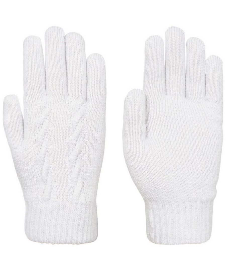 Image for Trespass Womens/Ladies Ottilie Knitted Gloves (Pale Grey)