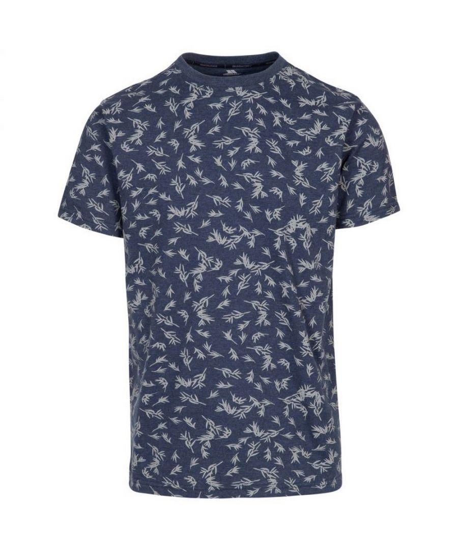 Image for Trespass Mens Orsen Leaf Print T-Shirt (Navy)
