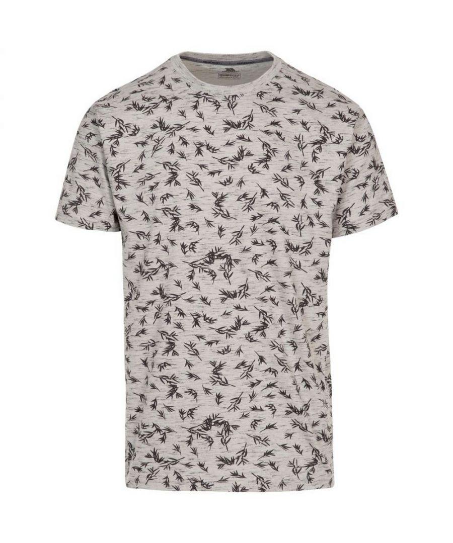 Image for Trespass Mens Orsen Leaf Print T-Shirt (Grey)