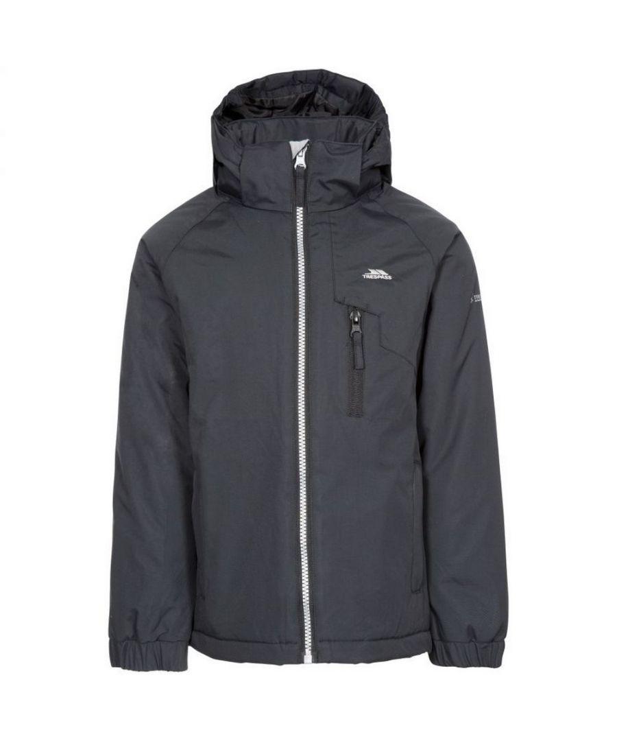 Image for Trespass Childrens/Kids Useful Waterproof Jacket (Black)