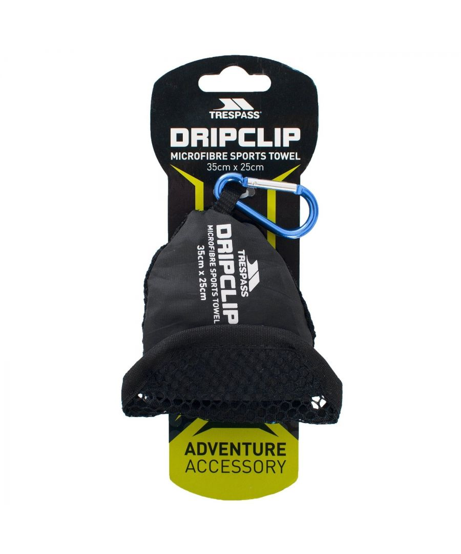 Image for Trespass Dripclip Microfibre Towel Keyring With Carabiner Clip