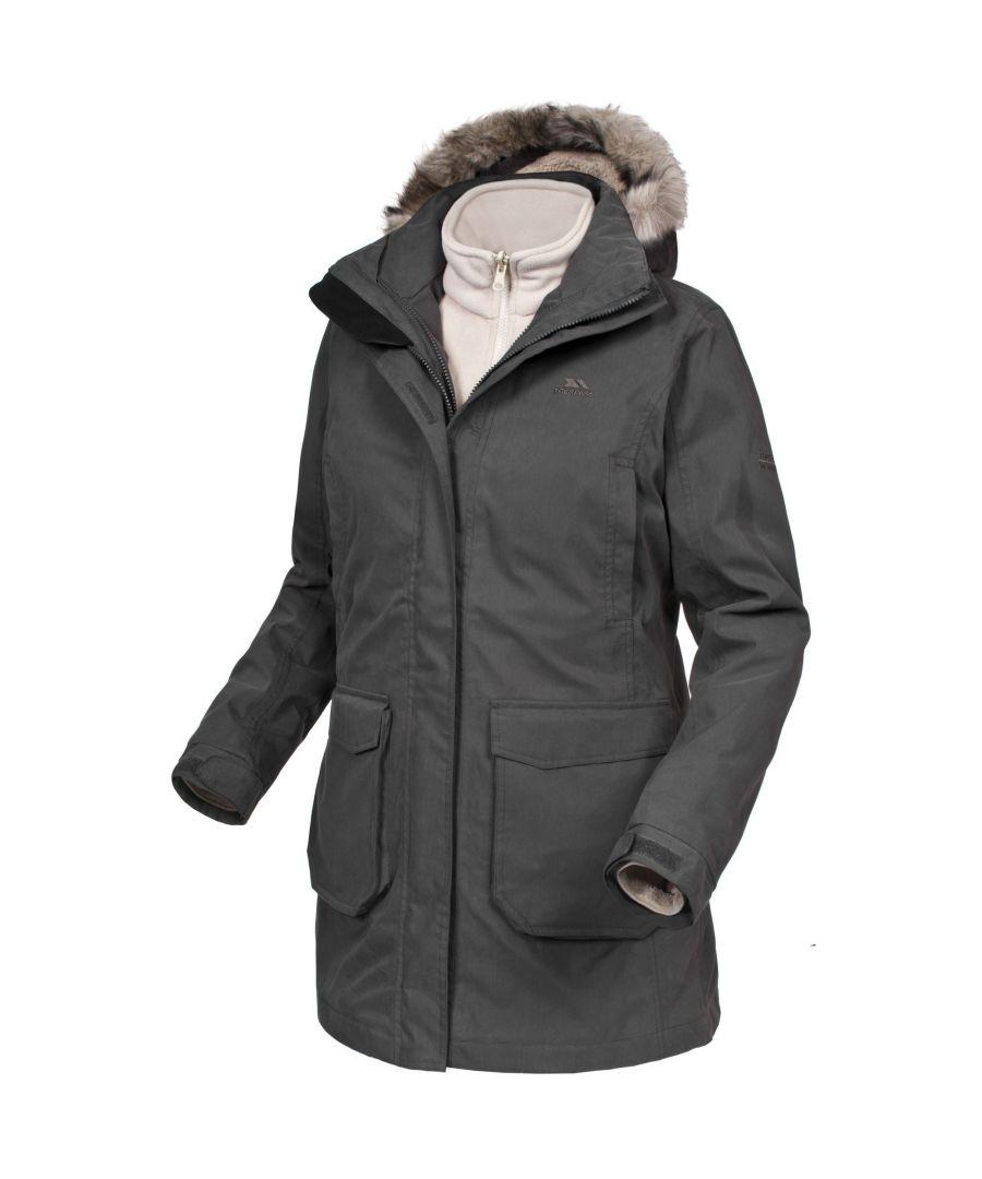 Image for Trespass Womens/Ladies Blizzard 3 In 1 Jacket (Khaki)