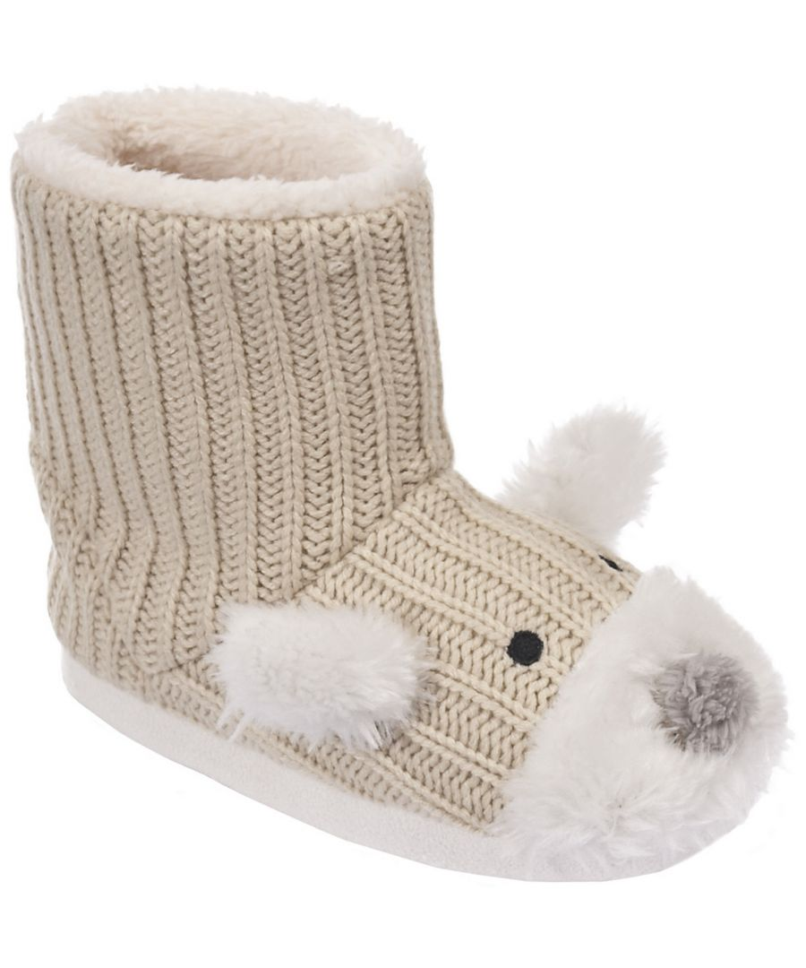 Image for Trespass Childrens Girls Sootie Teddy Bear Slipper Boots