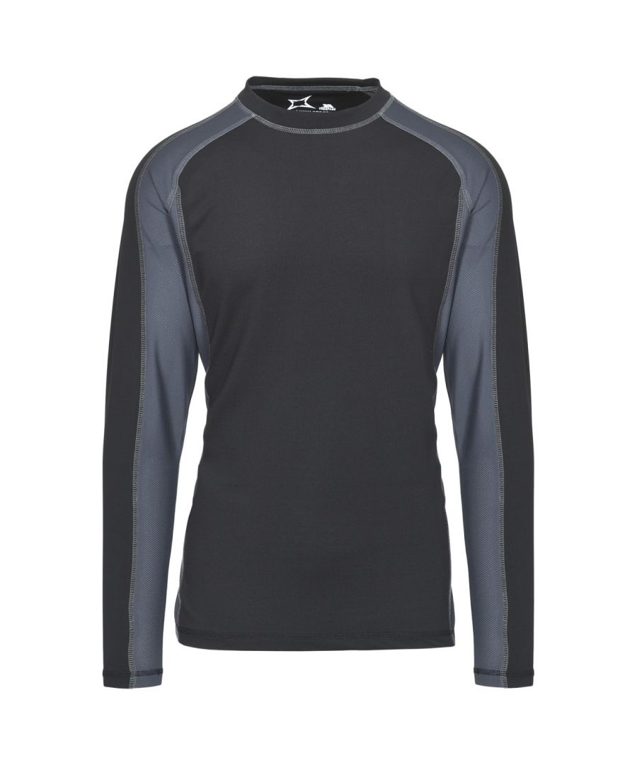 Image for Trespass Mens Explore Long Sleeve Crew Base Layer Top T-Shirt