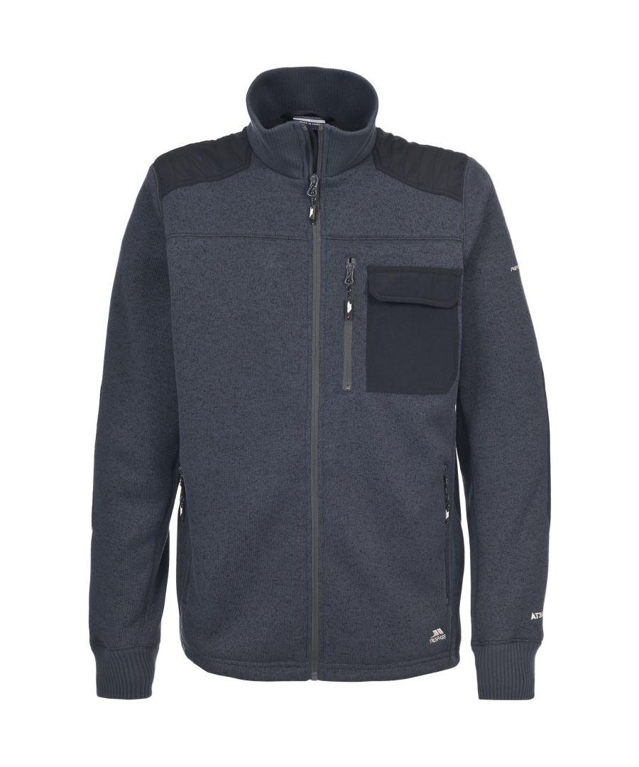 Image for Trespass Mens Rockvale Full Zip Fleece Jacket (Flint Marl)