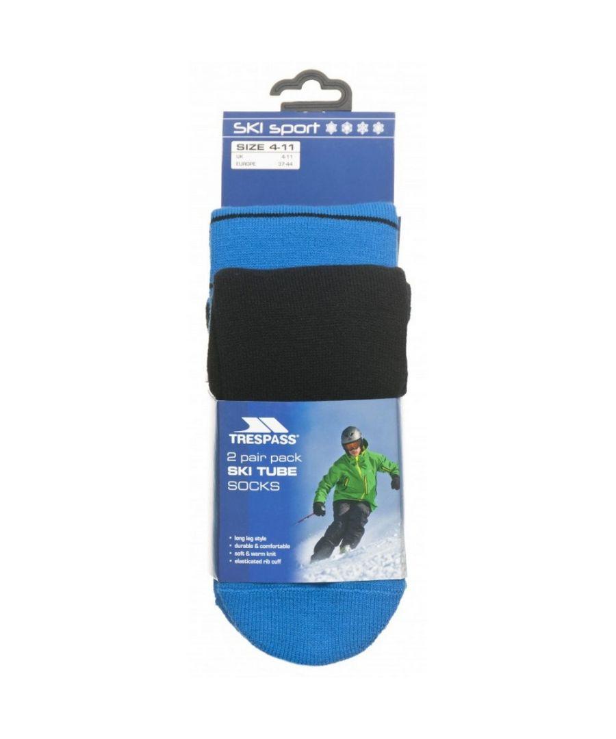 Image for Trespass Mens Toppy Ski Tube Socks (2 Pairs)