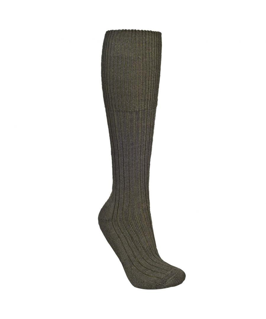 Image for Trespass Mens Kit Heavyweight Hiking Socks (Olive)