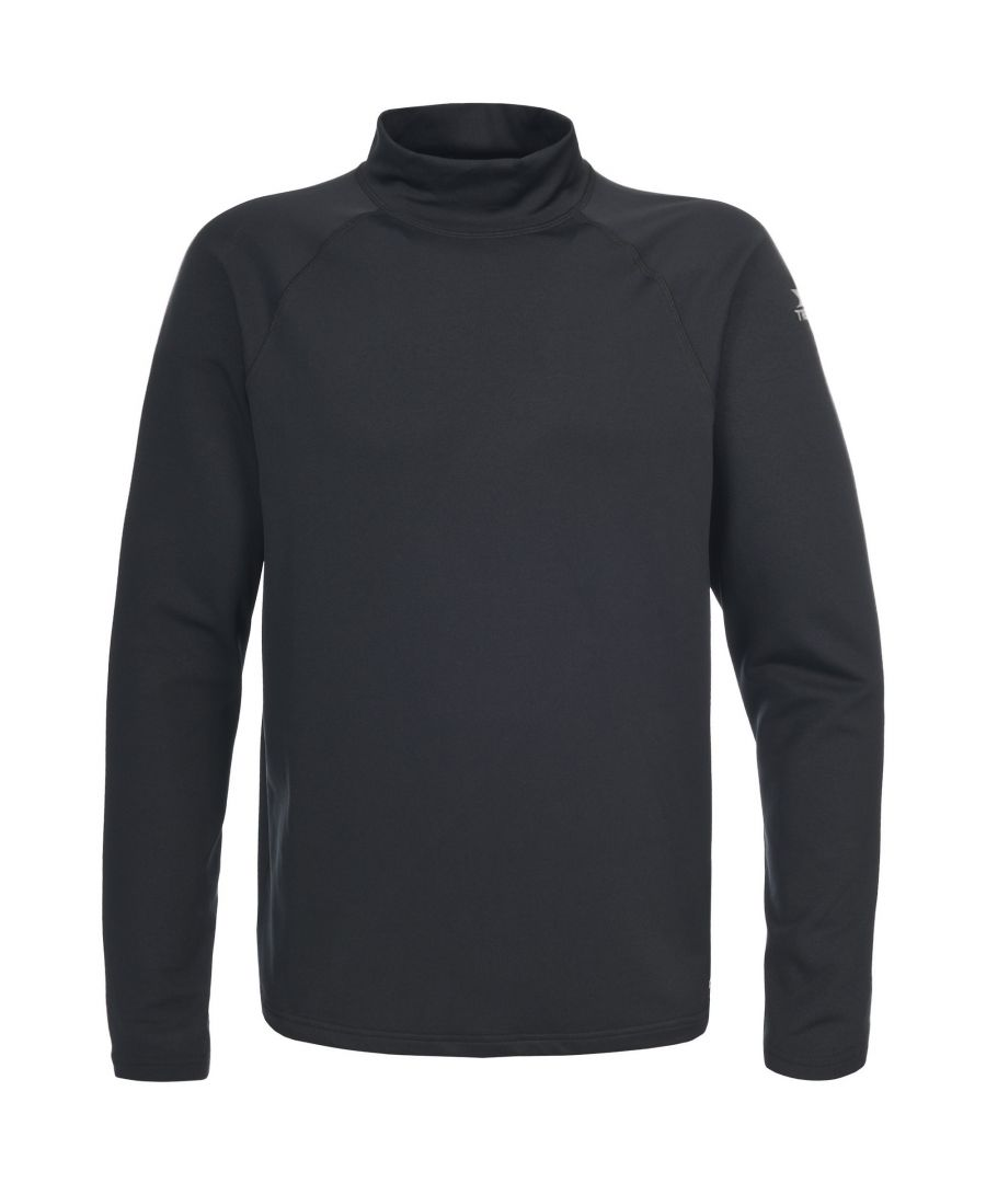 Image for Trespass Mens Riddy Quick Dry Active Long Sleeve Top (Black)