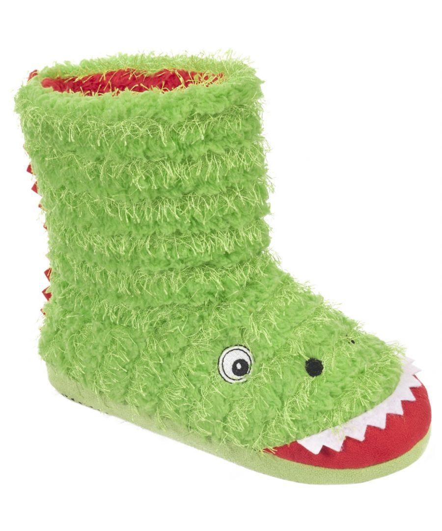 Image for Trespass Childrens/Boys Dino Novelty Boot Slippers