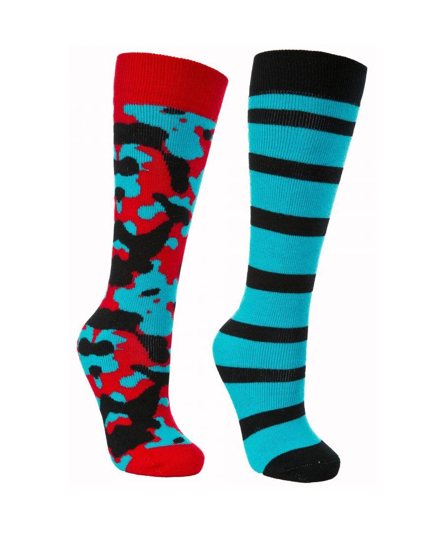 Image for Trespass Childrens/Kids Diddle Ski Tube Socks (Pack Of 2)
