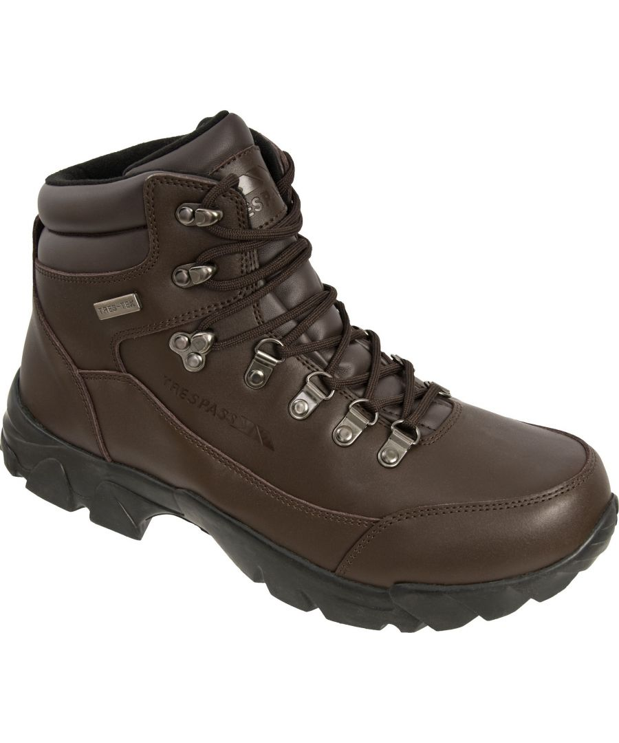 Image for Trespass Mens Bergenz Waterproof Walking Boots (Brown)