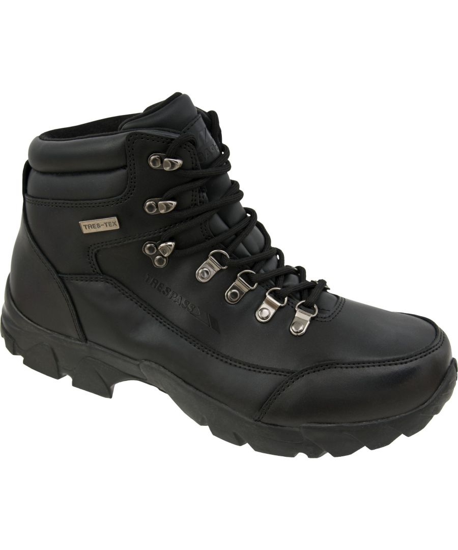 Image for Trespass Mens Bergenz Waterproof Walking Boots (Black)