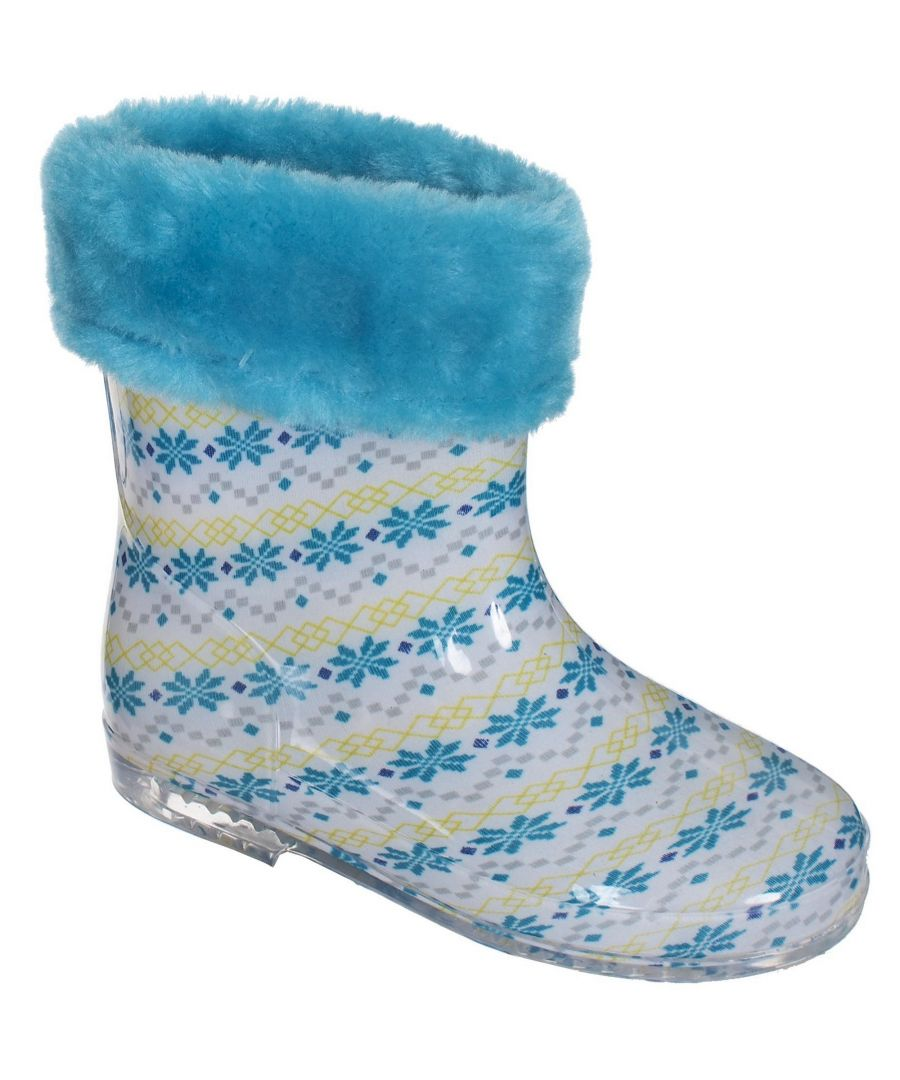 Image for Trespass Baby Unisex Pitter Faux Fur Lined Waterproof Wellies