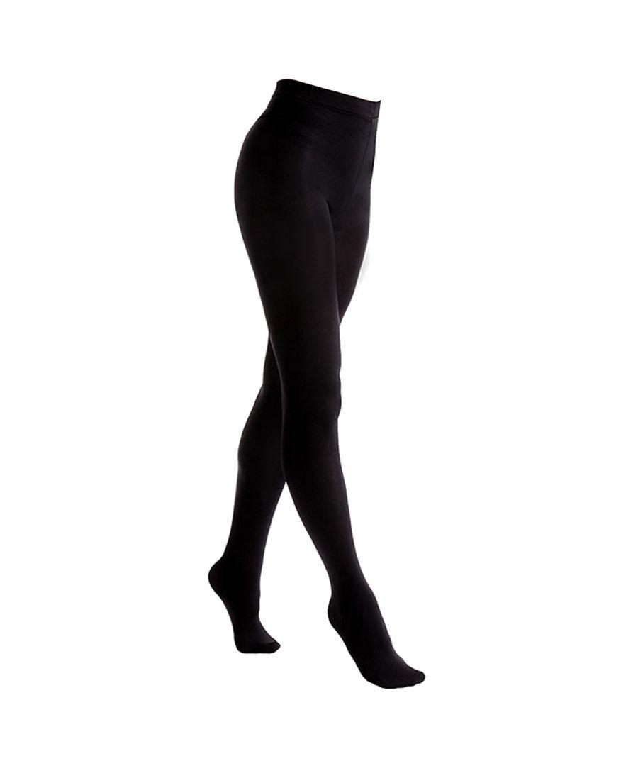 Image for FLOSO Ladies/Womens Black Brushed Thermal Fleece Tights (1 Pair) (Black)