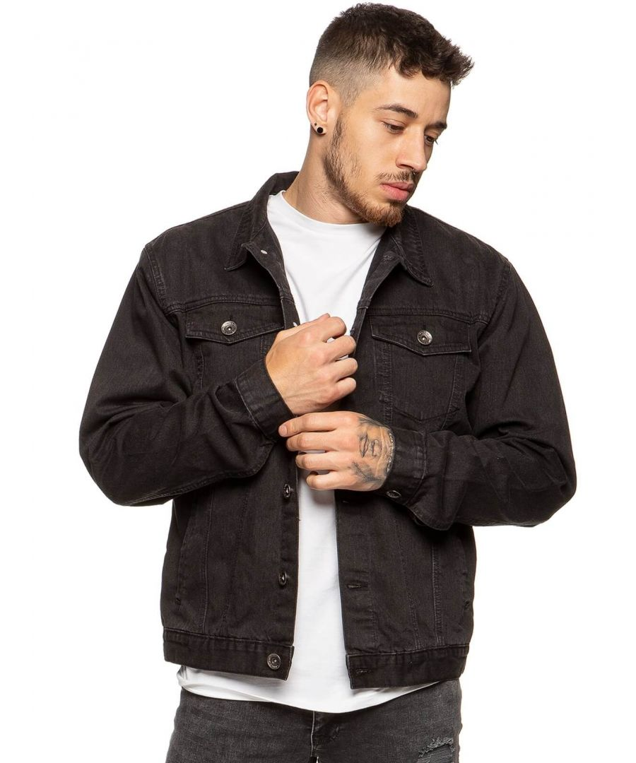 Image for Mens Enzo Denim Designer Jacket - BLK | Enzo Designer Menswear