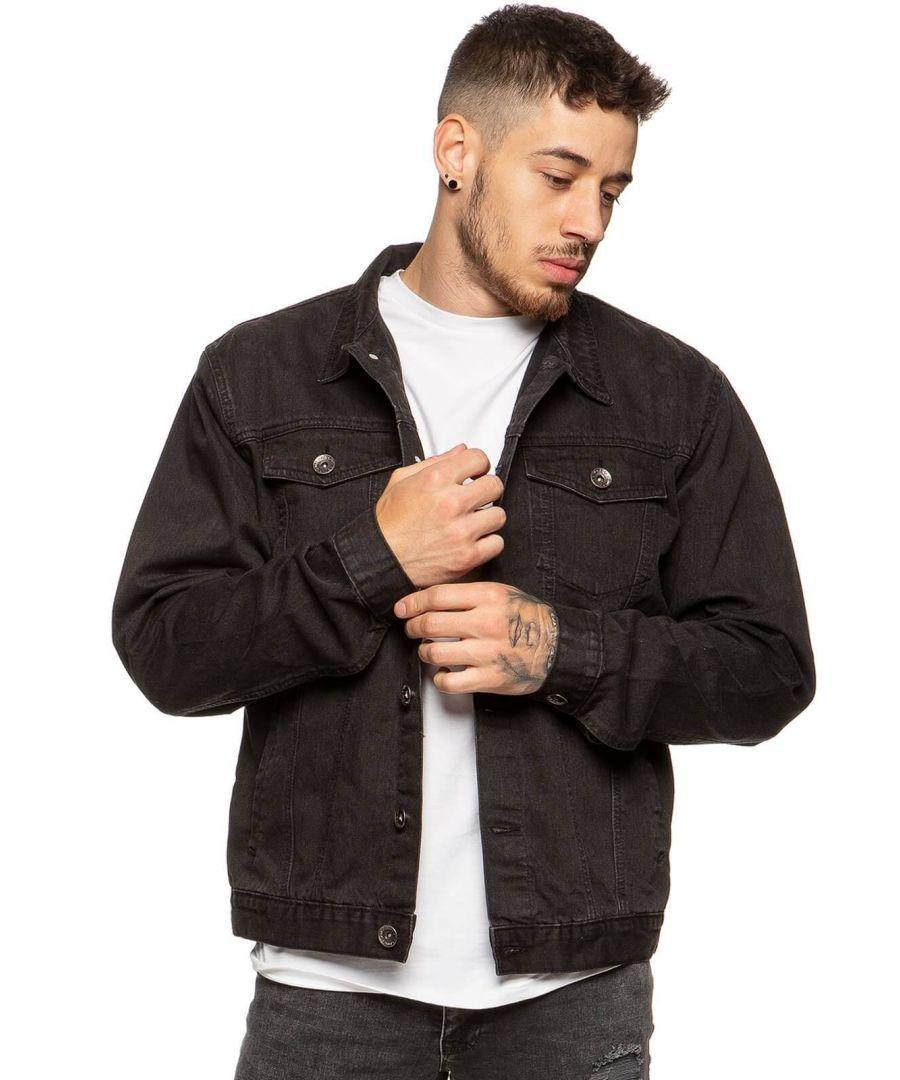 Image for Mens Enzo Denim Designer Jacket - BLK | Enzo Designer Menswear