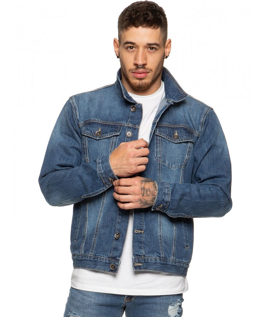 Image for Mens Enzo Denim Designer Jacket - MSW | Enzo Designer Menswear