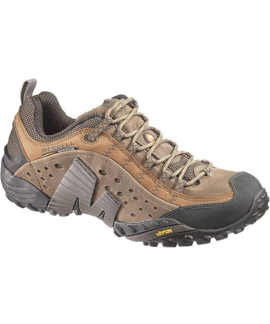 Image for Merrell Mens Intercept Breathable Leather Sneaker Shoes