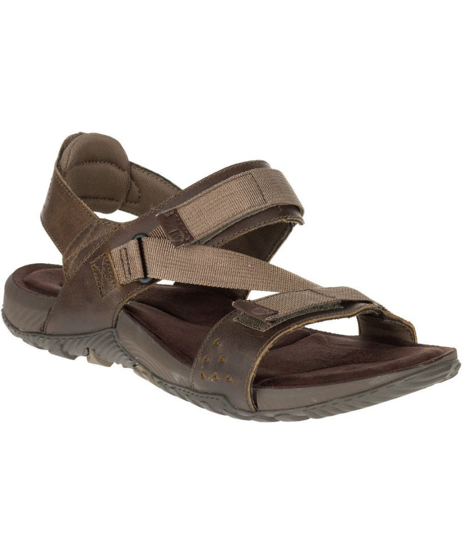 Image for Merrell Mens Terrant Strap Leather Breathable Mesh Walking Sandals