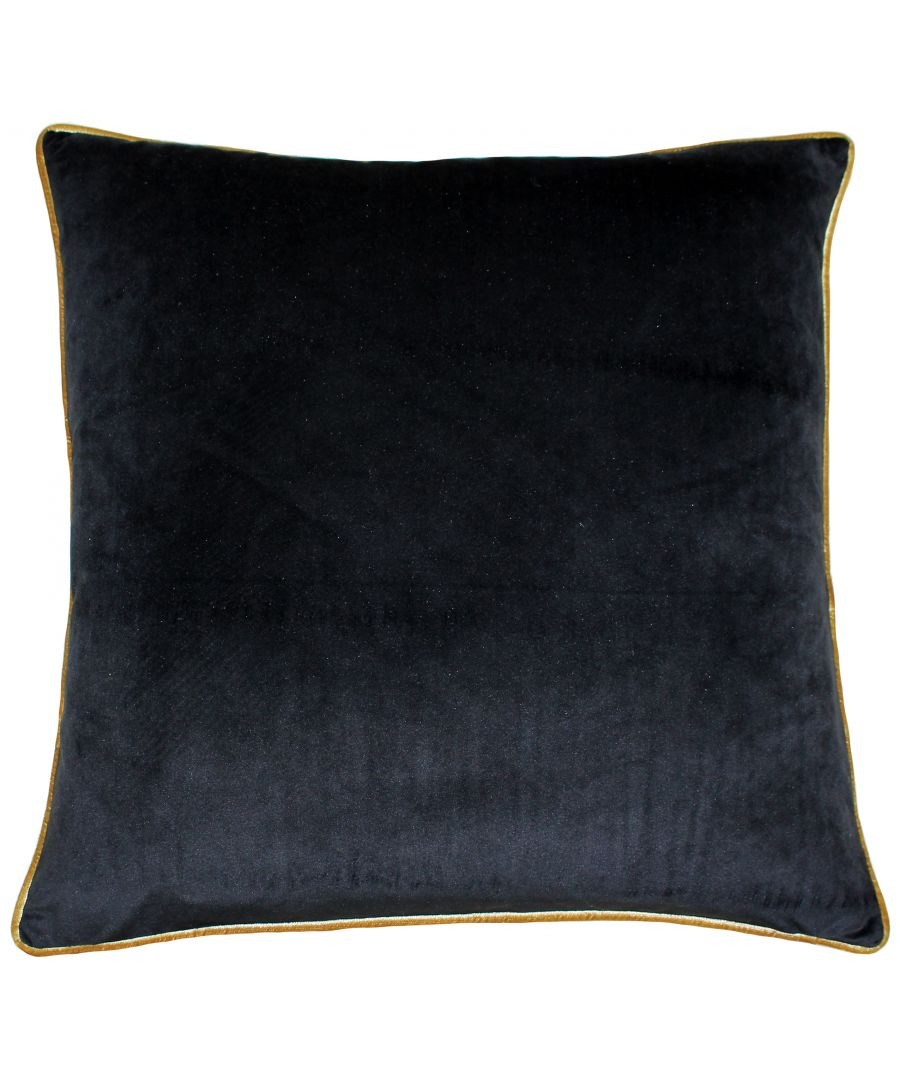 Image for Meridian 55X55 Poly Cushion Blk/Gol