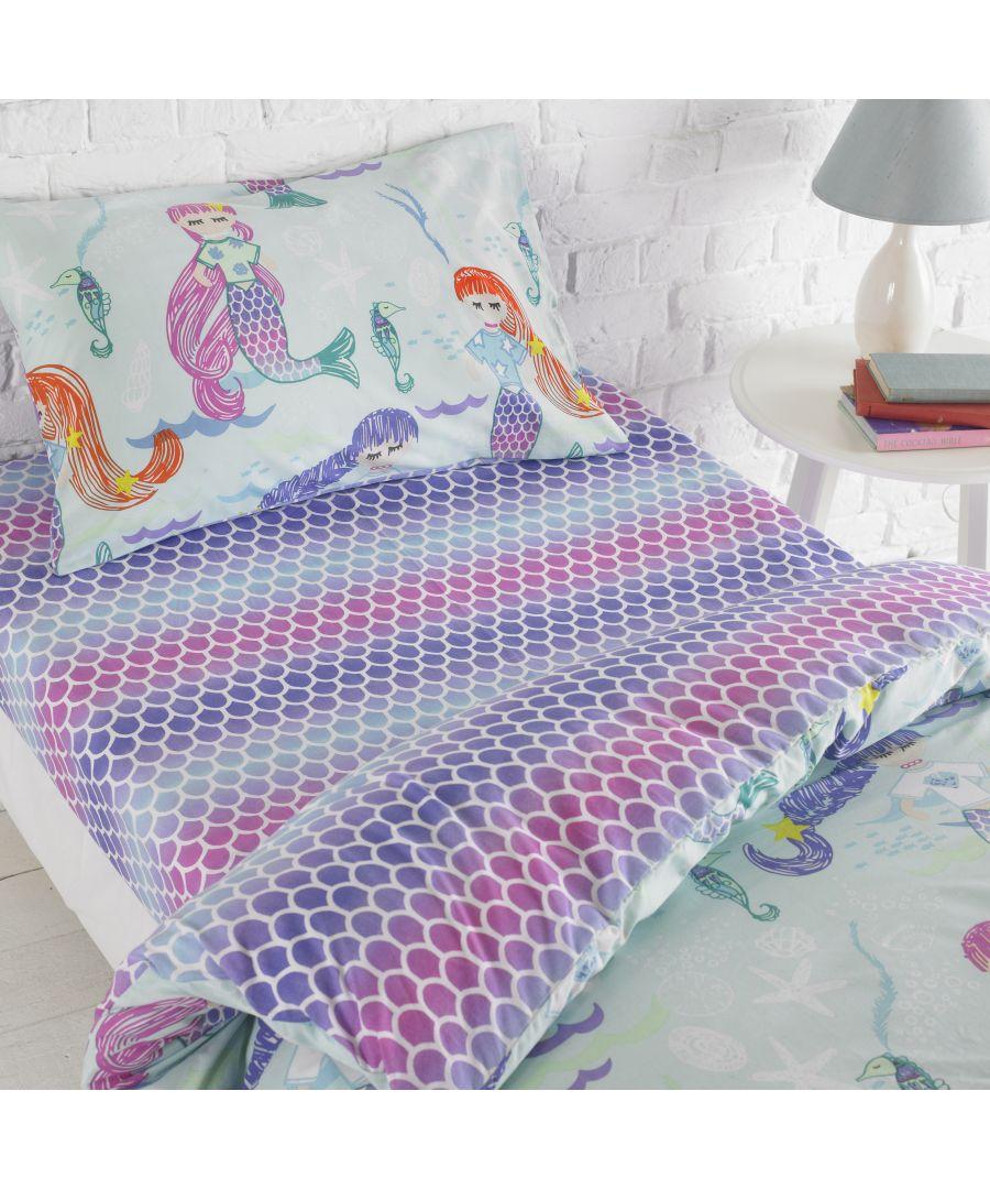 Image for Mermaid Toddler Fit Sheet Multi