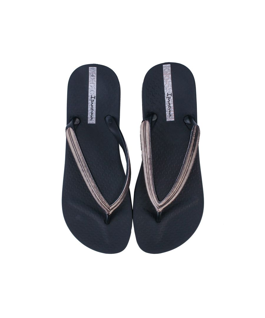 Image for Women's Ipanema Mesh Wedge Sandals in Black