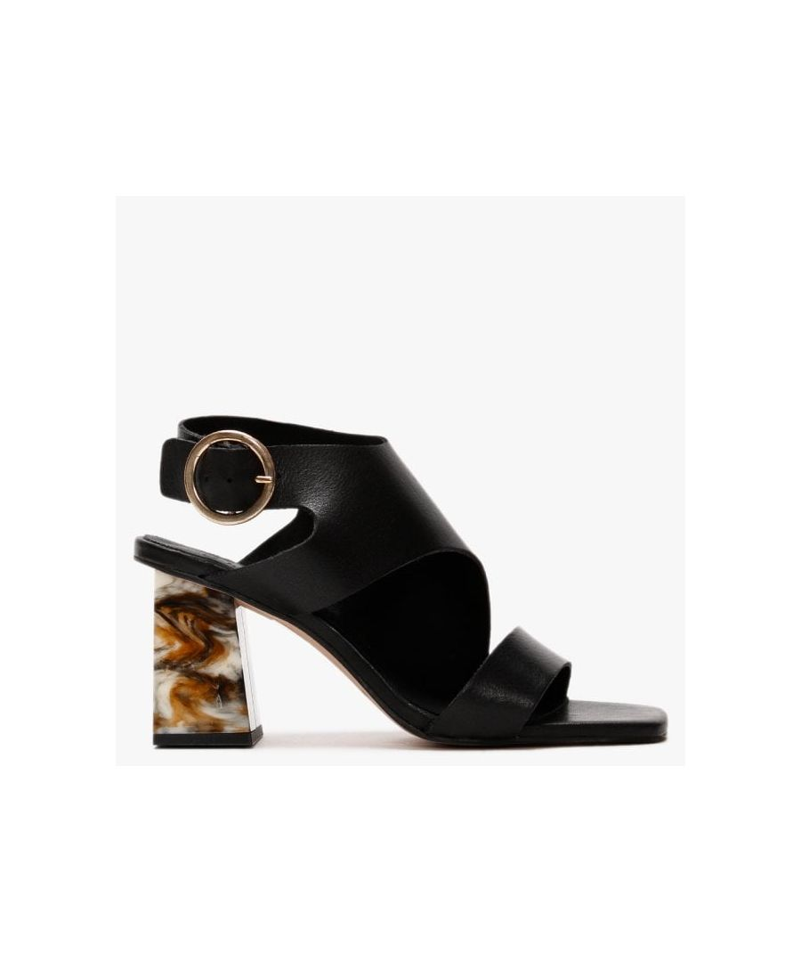 Image for Office Meteor Leather Block Heel Sandals