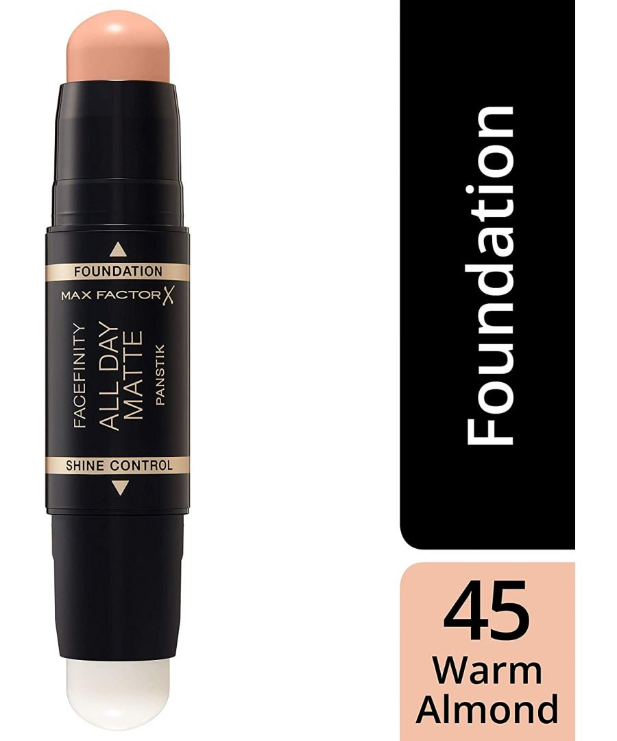 Image for Max Factor Facefinity All Day Matte 2in1 PanStik Foundation 45 Warm Almond