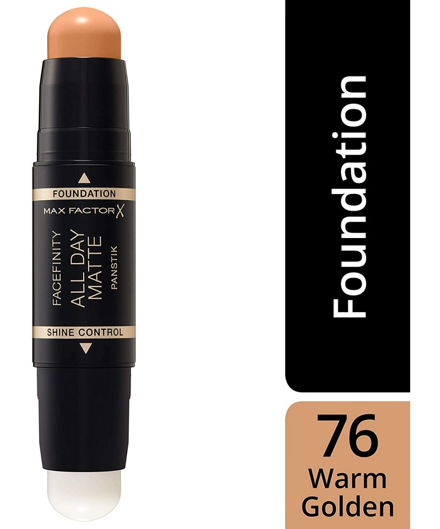 Image for Max Factor Facefinity All Day Matte 2in1 PanStik Foundation 76 Warm Golden