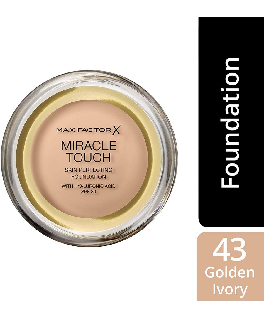 Image for Max Factor Miracle Touch Skin Perfecting Foundation SPF30 - 43 Golden Ivory