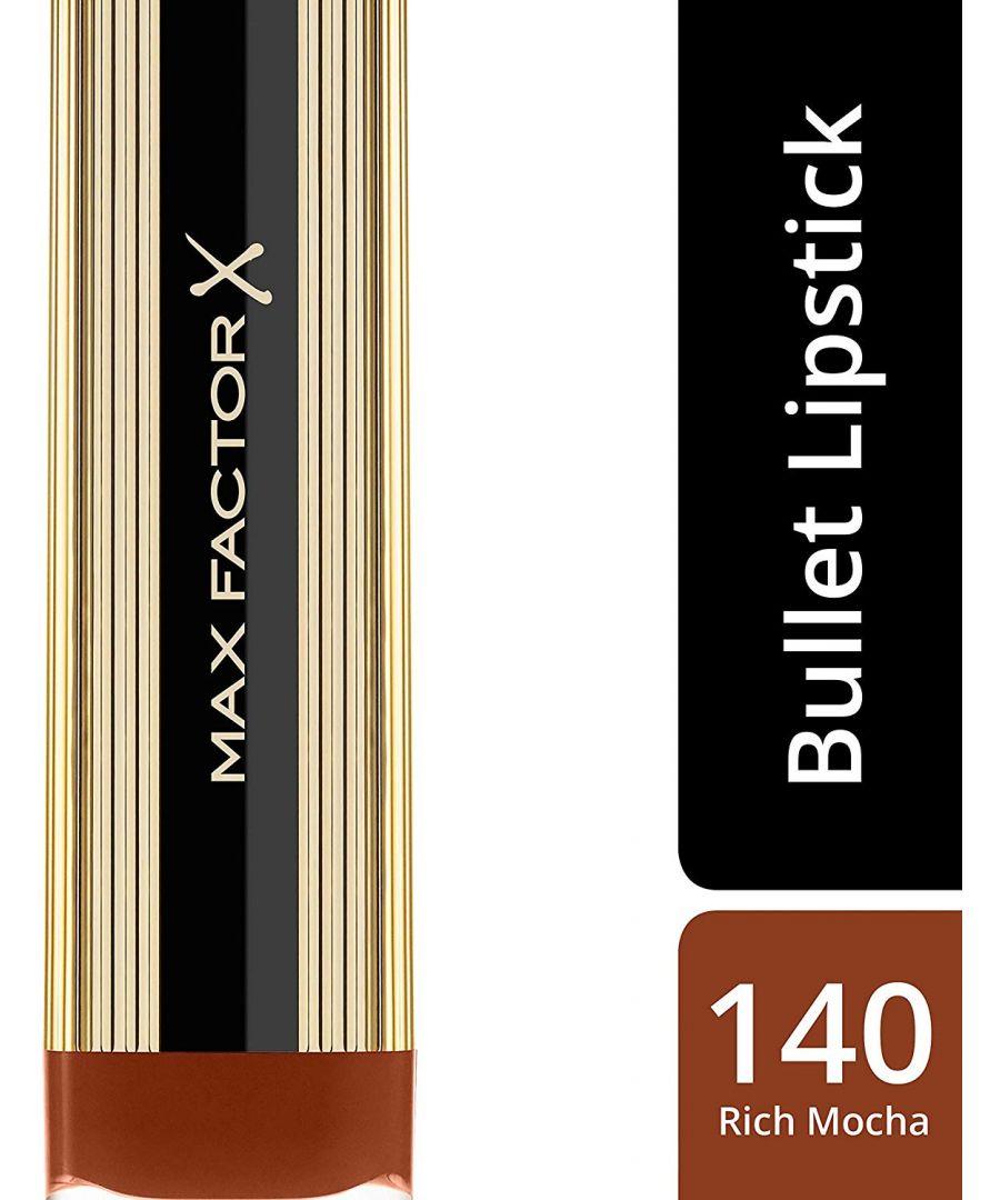 Image for Max Factor Colour Elixir Lipstick with Vitamin E 4g - 140 Rich Mocha