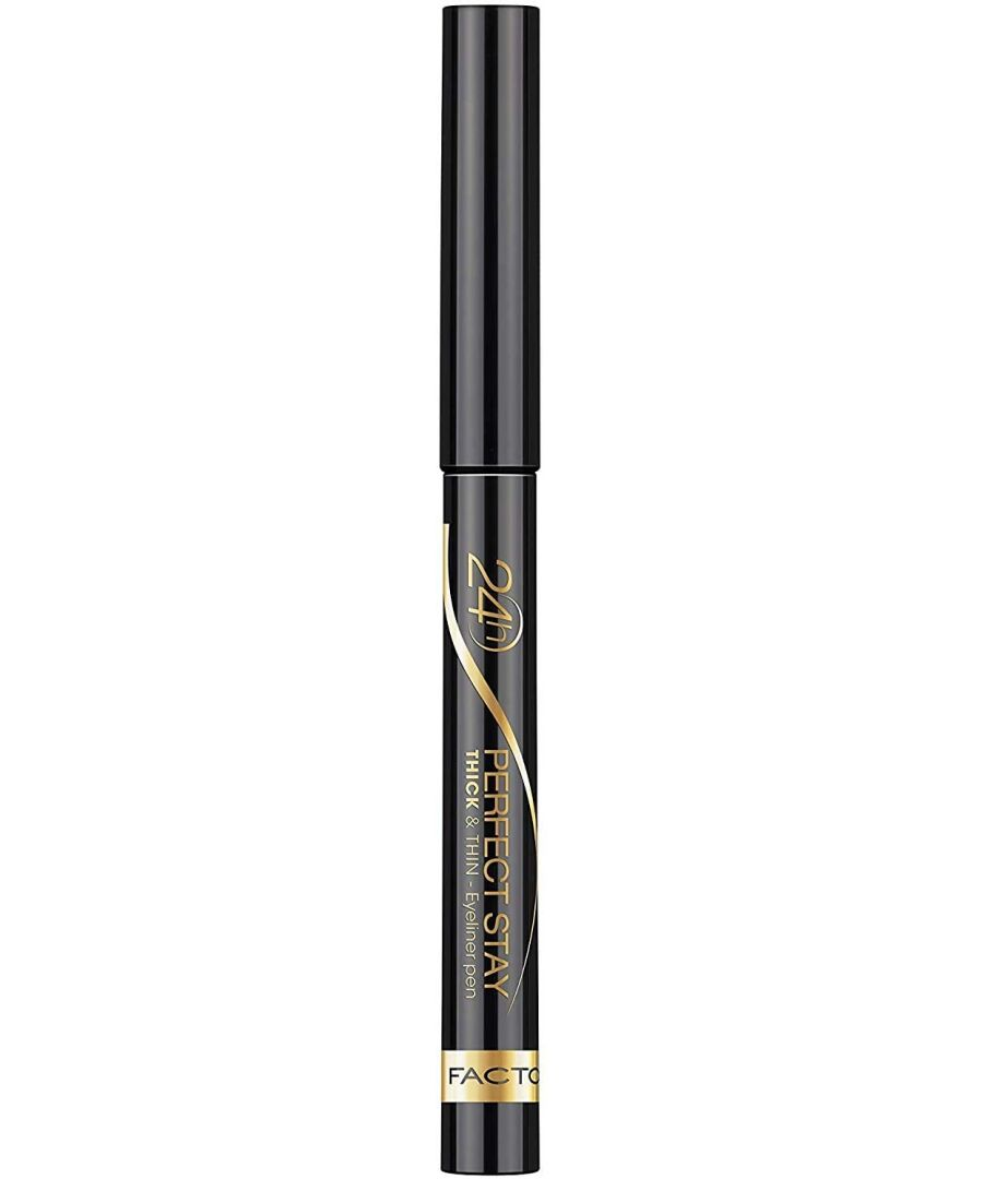Image for Max Factor Perfect Stay Thick & Thin Eyeliner Pen - 090 Black