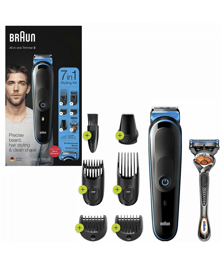 Image for Braun MGK3245 7in1 Shave & Trim Styling Kit with Gillette Fusion5 ProGlide Razor