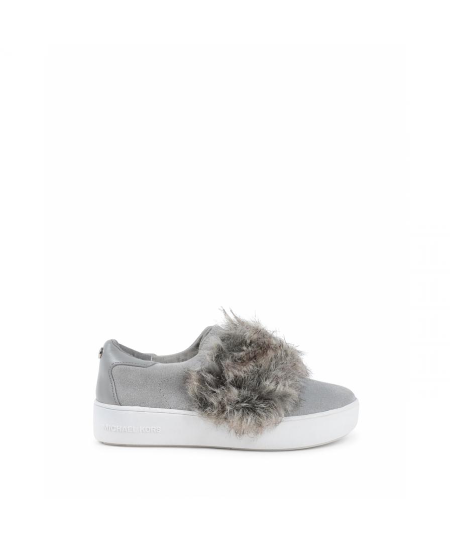 Image for Michael Kors Girls Slip On Sneaker Grey ZIA MAVEN KAY LIGHT GREY