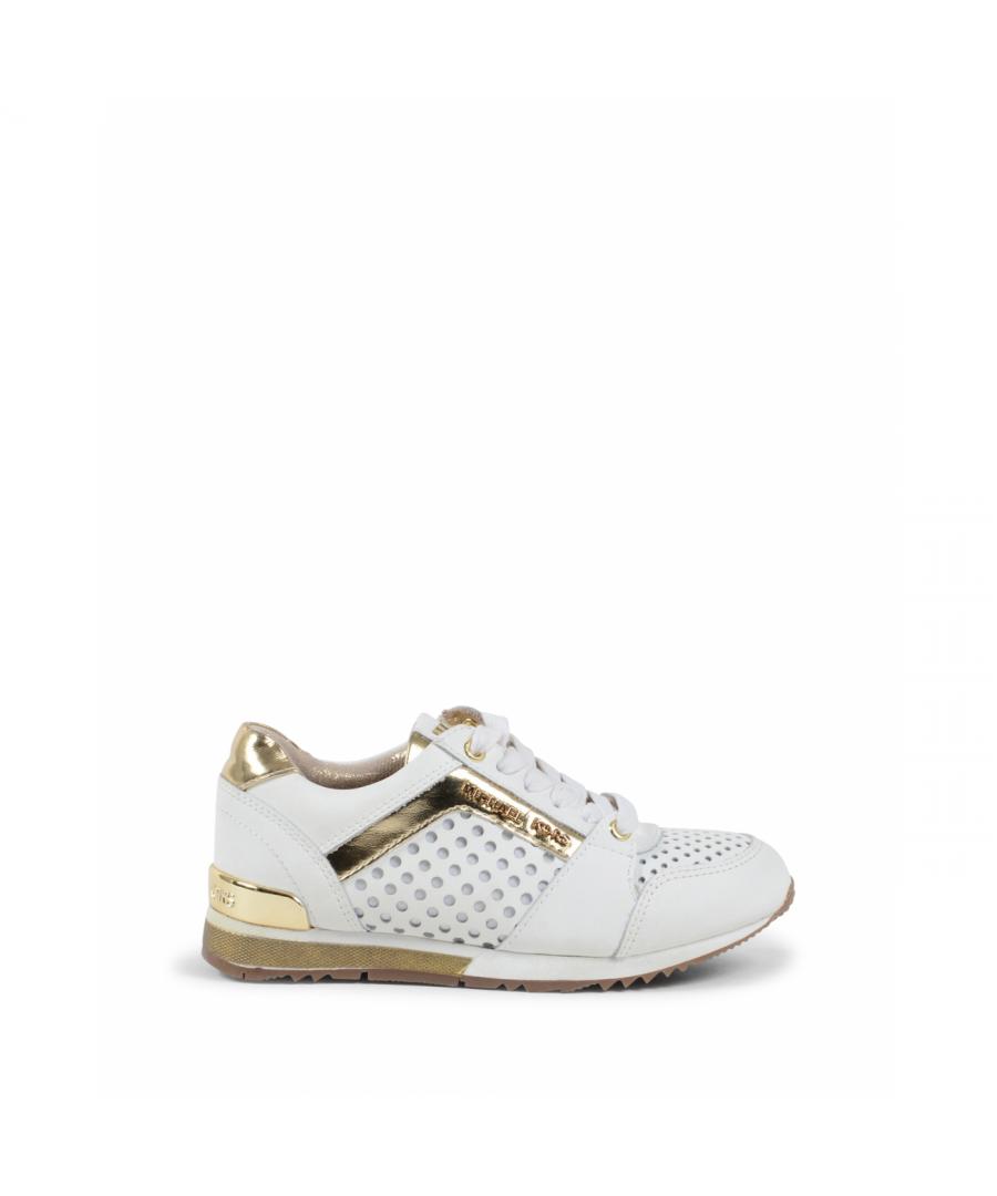 Image for Michael Kors Girls Sneaker White ZIA ALLIE SAY WHITE GOLD