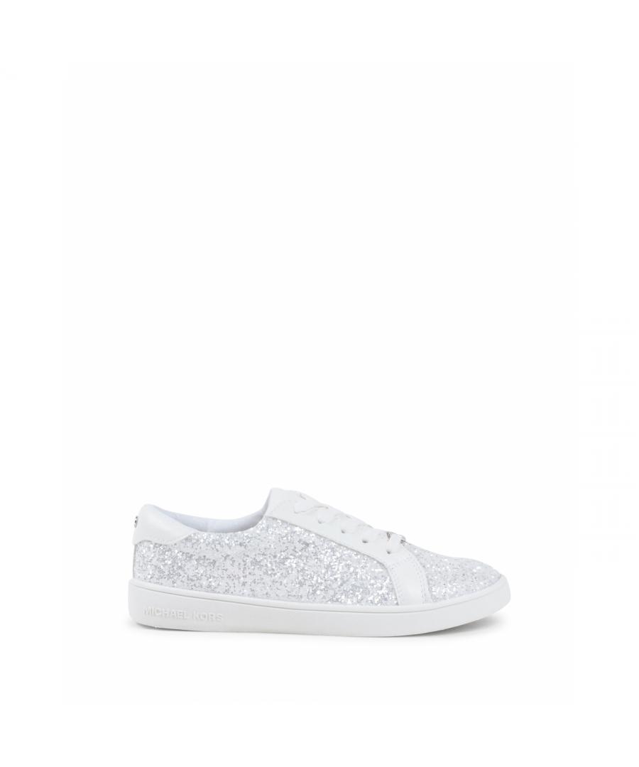 Image for Michael Kors Girls Sneaker White ZIA IVY ACE WHITE GLITTER