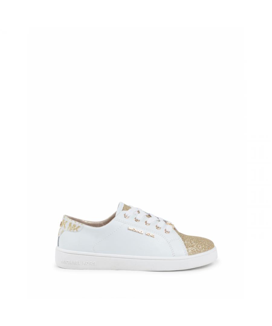 Image for Michael Kors Girls Sneaker White ZIA IVY MARTIN WHITE GOLD