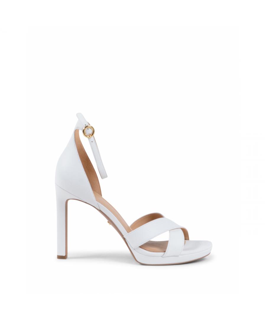 Image for Michael Kors Womens Ankle Strap Sandal White ALEXIA