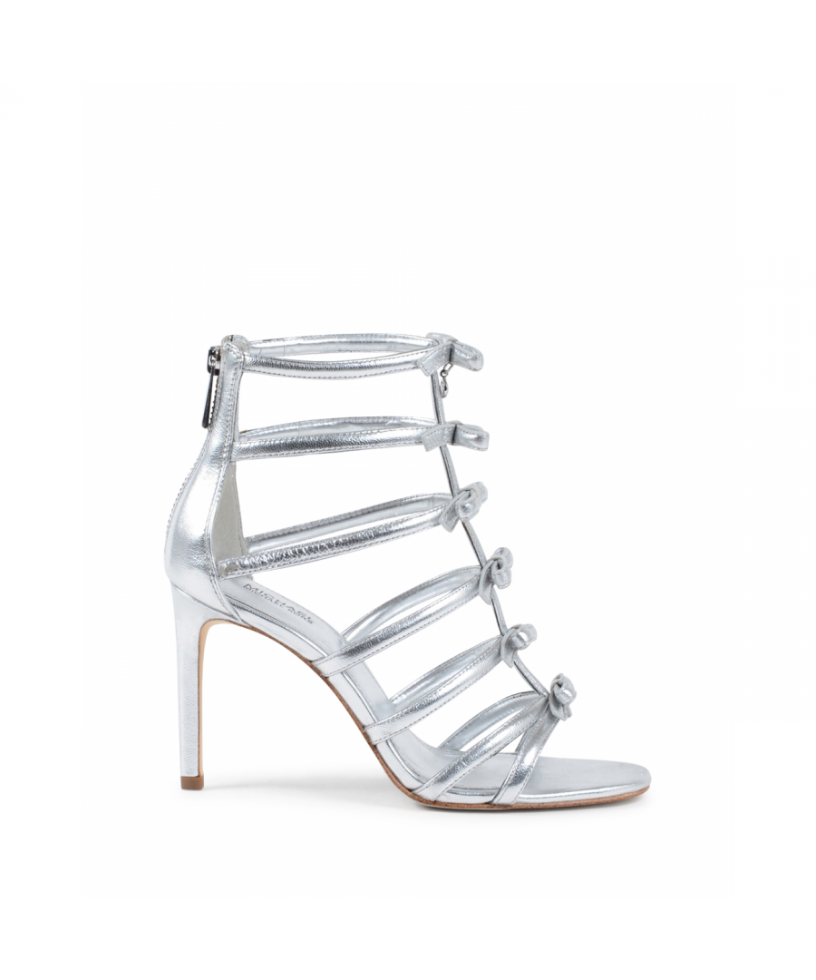 Image for Michael Kors Womens Gladiator Sandal Silver VERONICA