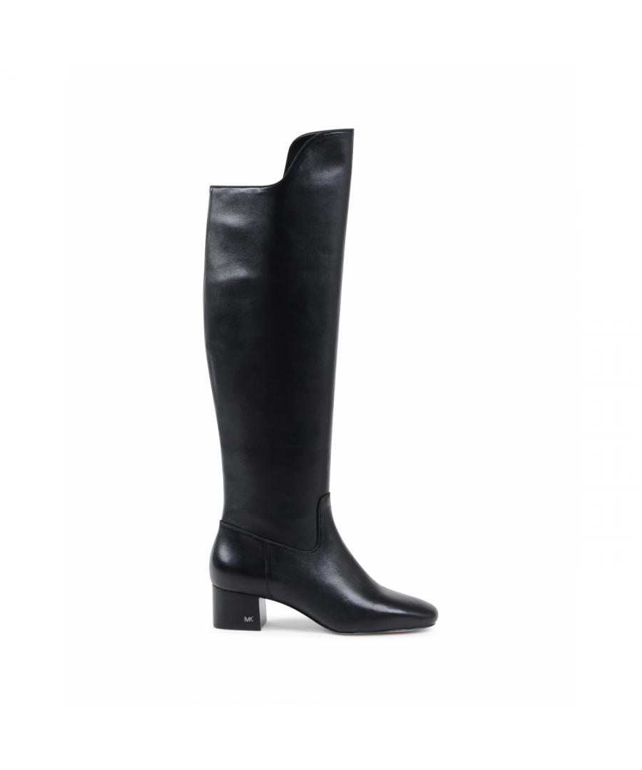 Image for Michael Kors Womens High Boot Black BLAINE