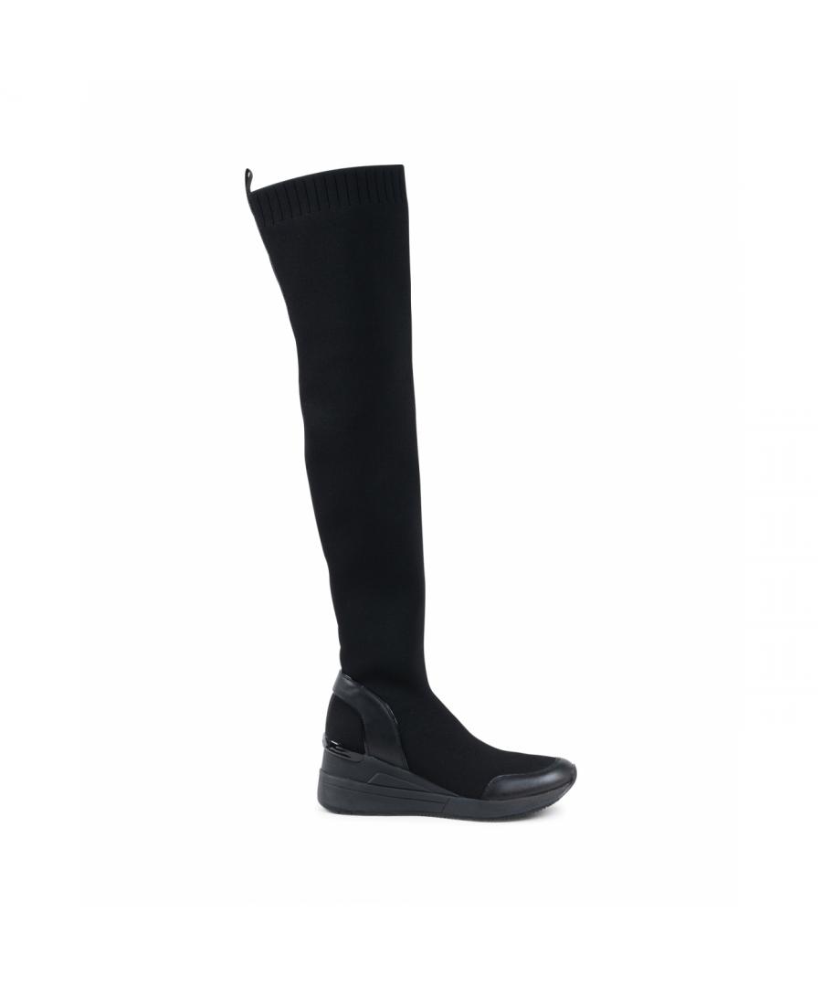 Image for Michael Kors Womens High Boot Black GROVER