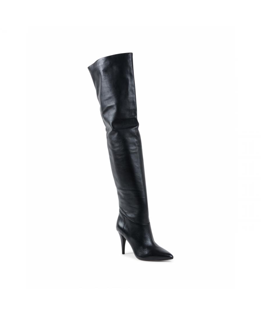 Image for Michael Kors Womens High Boot Black ROSALYN