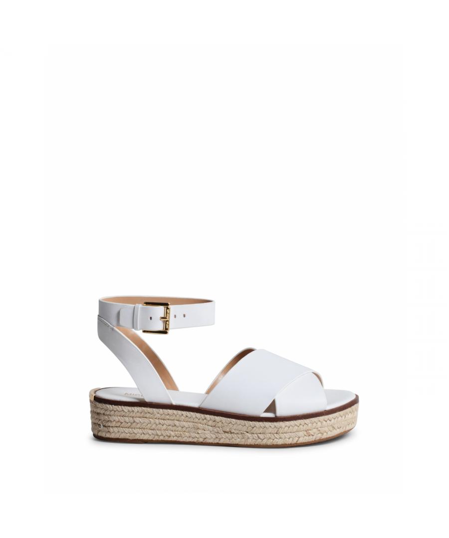 Image for Michael Kors Womens Platform Sandal White ABBOTT