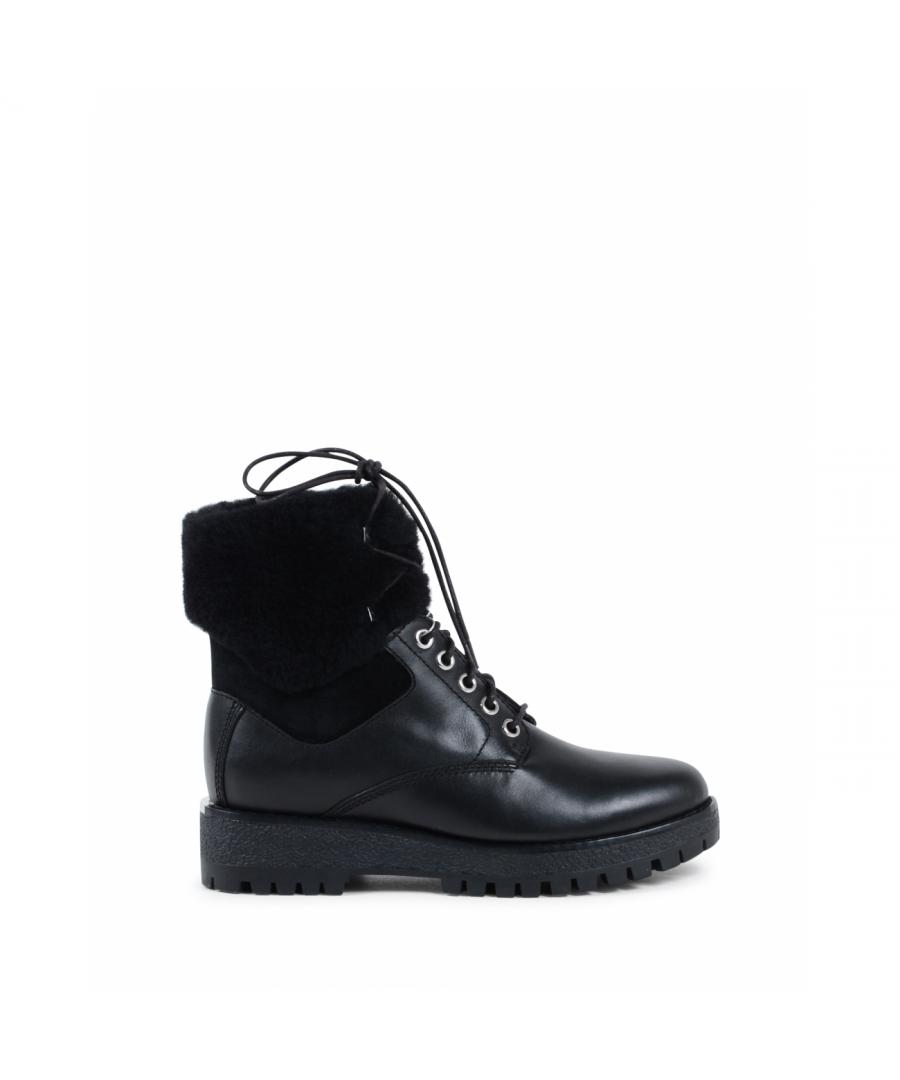 Image for Michael Kors Womens Short Boot Black TEDDY