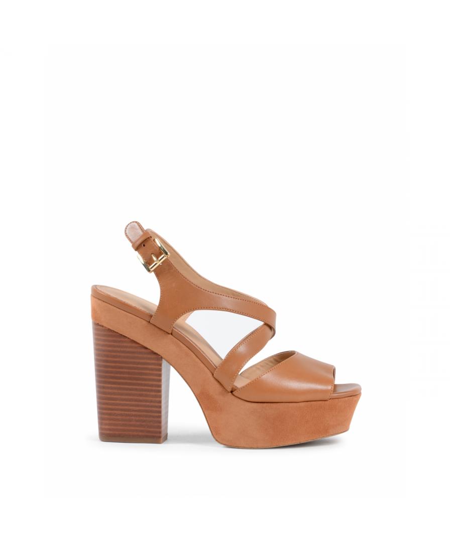 Image for Michael Kors Womens Wedge Sandal Tan ABBOTT
