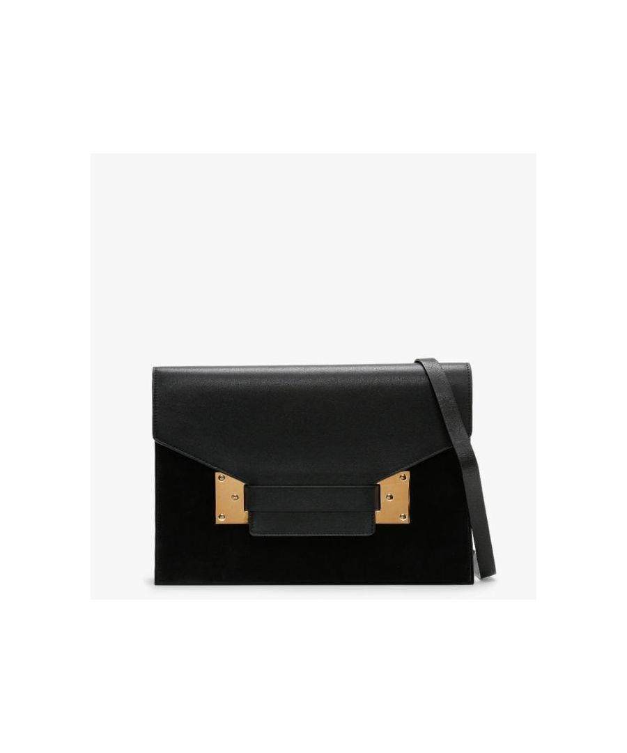 Image for Sophie Hulme Milner Leather & Suede Shoulder Bag